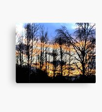 Sunset Sumi-e Canvas Print