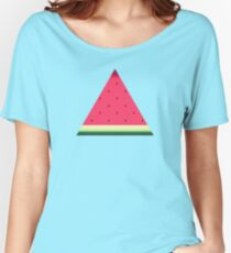 Watermelon // Graphic Fruit Pattern Women's Relaxed Fit T-Shirt