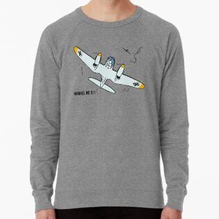 Sport-kapuzenpullis & -sweatshirts New Cotton Grey Hoodie Herrenmode Heinkel He 111