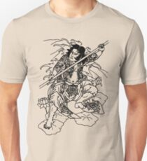 Japanese Warrior with Bo Unisex T-Shirt