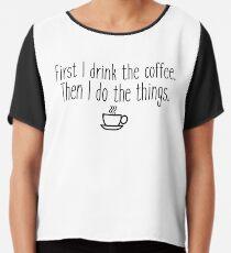 Blusa Primero bebo el cafe