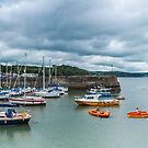 Little Rowers At Saundersfoot by Steve Purnell