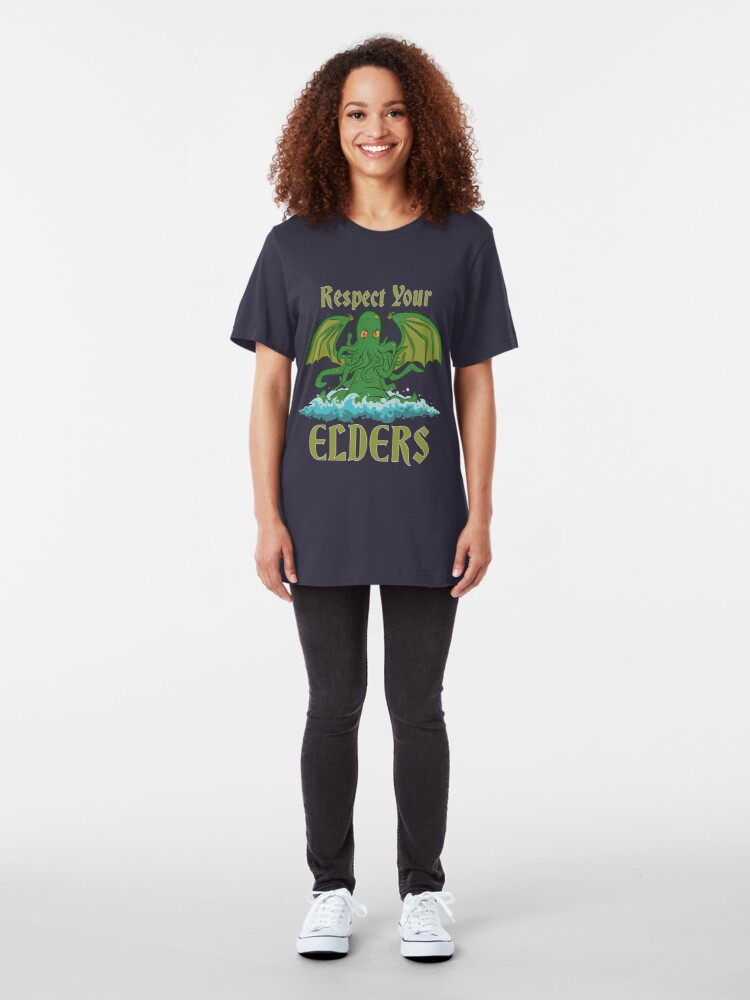 Alternative Ansicht von Respektiere deine Ältesten Slim Fit T-Shirt