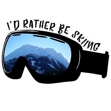 Prefiero estar esquiando - Gafas de jessannjo