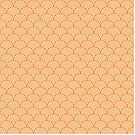 Orange Concentric Circle Pattern  by Cool Fun  Awesome Time