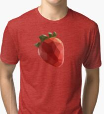 Polygon Strawberry Tri-blend T-Shirt