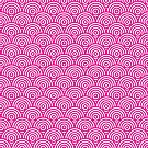 Pink Concentric Circle Pattern  by Cool Fun  Awesome Time