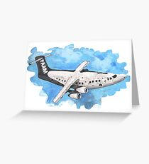 Crappy passenger plane with bad perspective Greeting Card