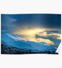 Mountains above Hofn Poster