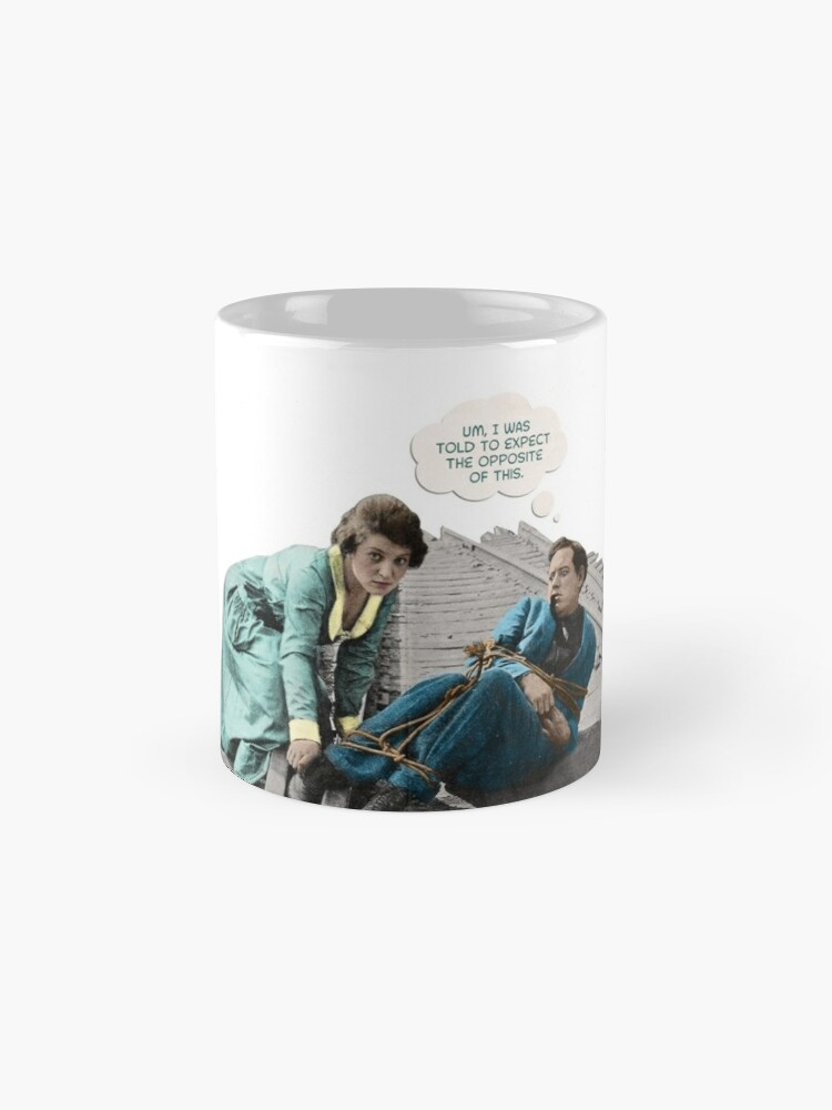 Alternate view of Silent Movie Dude in Distress Classic Mug