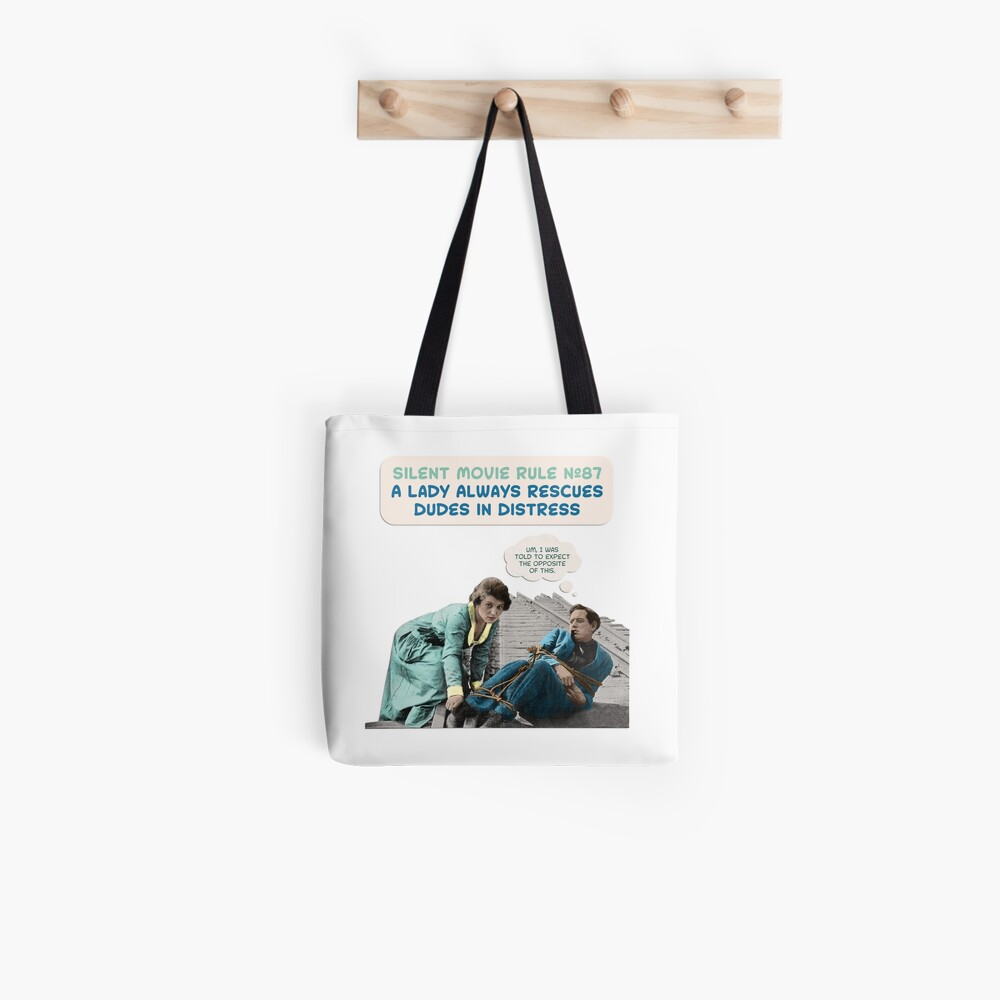 Silent Movie Dude in Distress Tote Bag