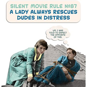Silent Movie Dude in Distress by moviessilently