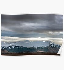 Mountains at Hofn Iceland Poster