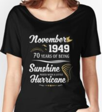 November 1949 Sunshine Mixed With A Little Hurricane Relaxed Fit T-Shirt