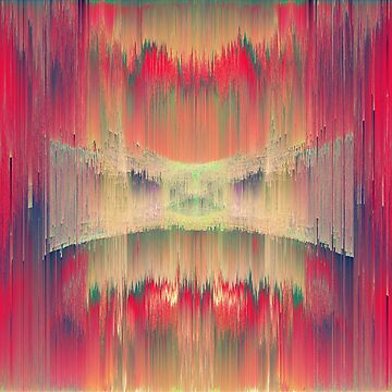 Abstract Hidden Ninja cat is hiding in sound waves by blackhalt