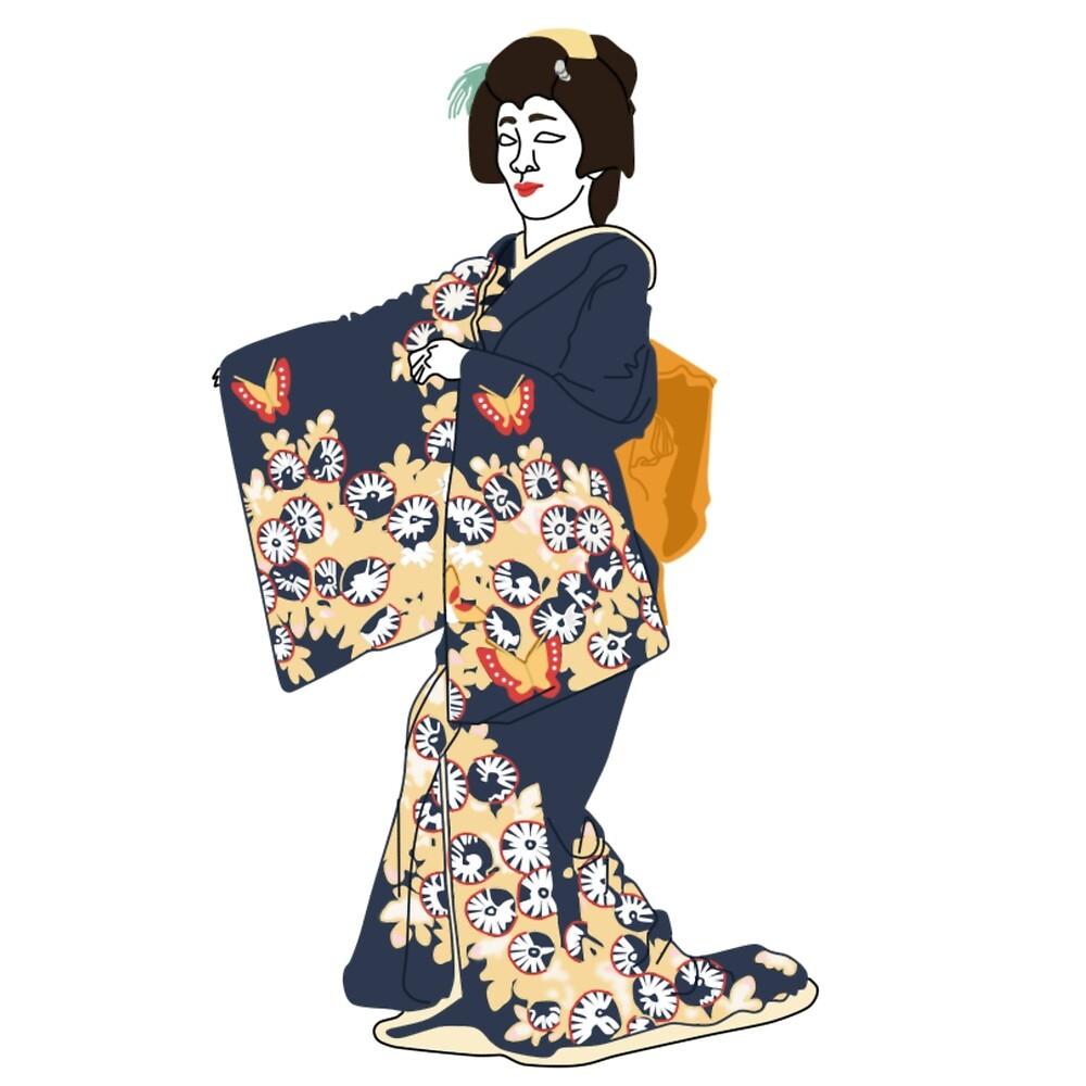 Butterfly Kimono Motif by KHRArts