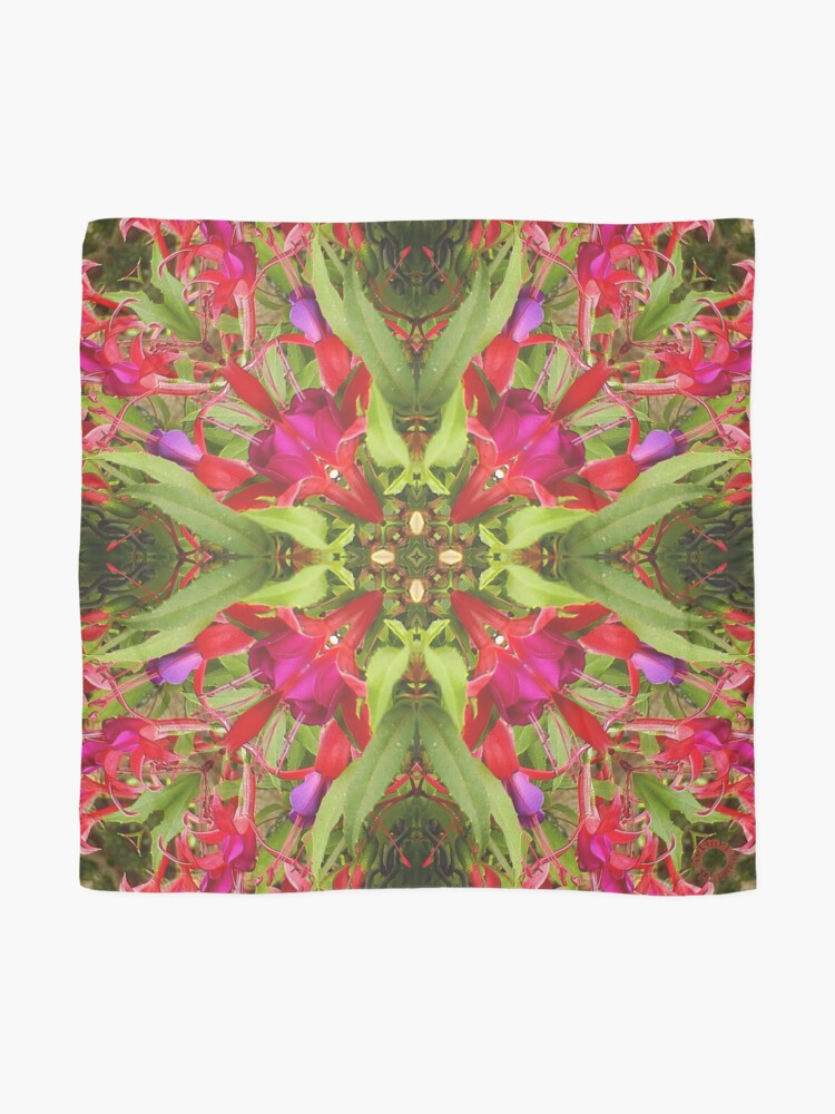 Alternate view of D1G1TAL-M00DZ ~ FLORAL ~ Hanging Fuchsia 2 by tasmanianartist 310119 Scarf