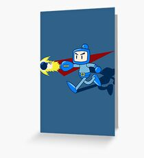 The Blue Bomber (man) Greeting Card
