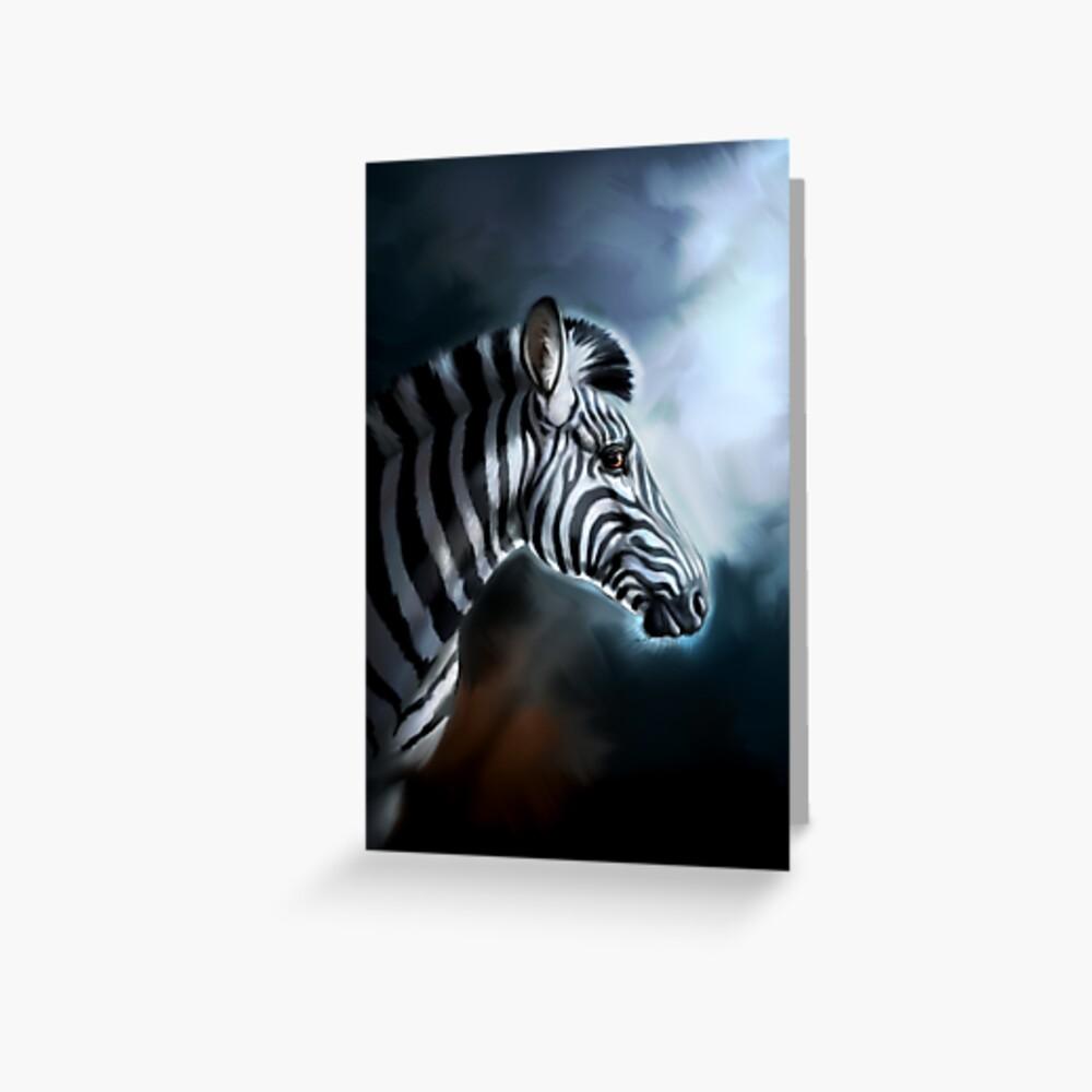 Mondschein-Zebra Grußkarte
