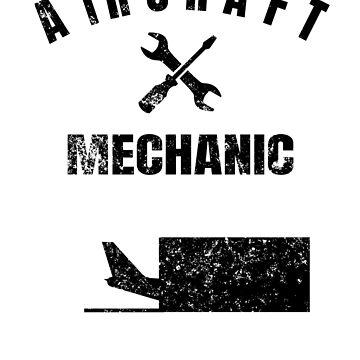 Engine mechanic airplane technician gift idea by Tengelmaker