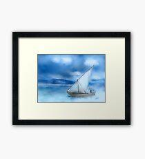 Dhow Fishing Vessel Framed Print