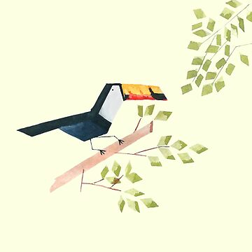 Low poly watercolor - Toucan by scarriebarrie