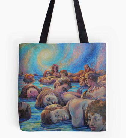 Asleep in A Dream of Life Tote Bag