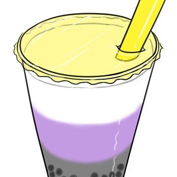Nonbinary Pride Bubble Milk Tea by JNNardacci