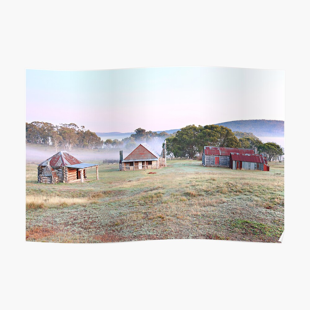 Coolamine Homestead Dawn, Kosciusko National Park, Australia Poster