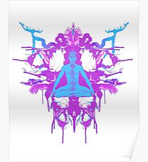 Tranquilly Serene - Purple/White/Teal Poster