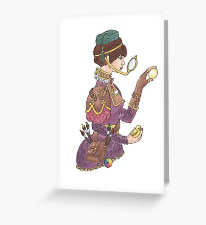 Steampunk Easter Greeting Card