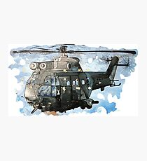 Helicopter Gunship with background  Photographic Print