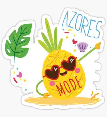 Azores Mode Ananas Sticker