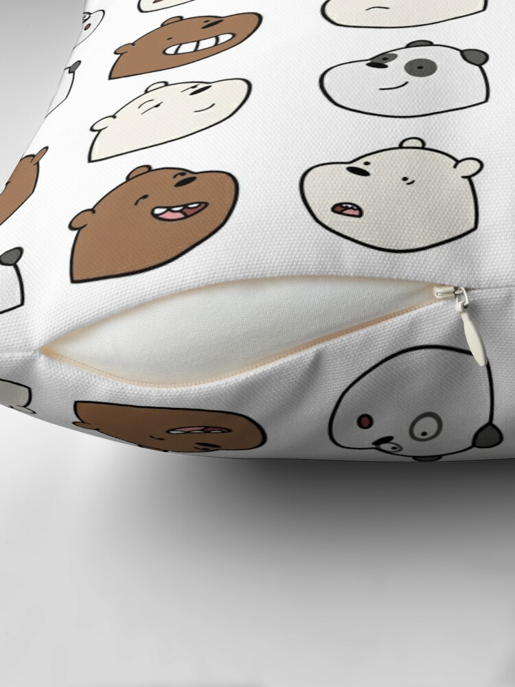 Alternate view of We Bare Bears Throw Pillow