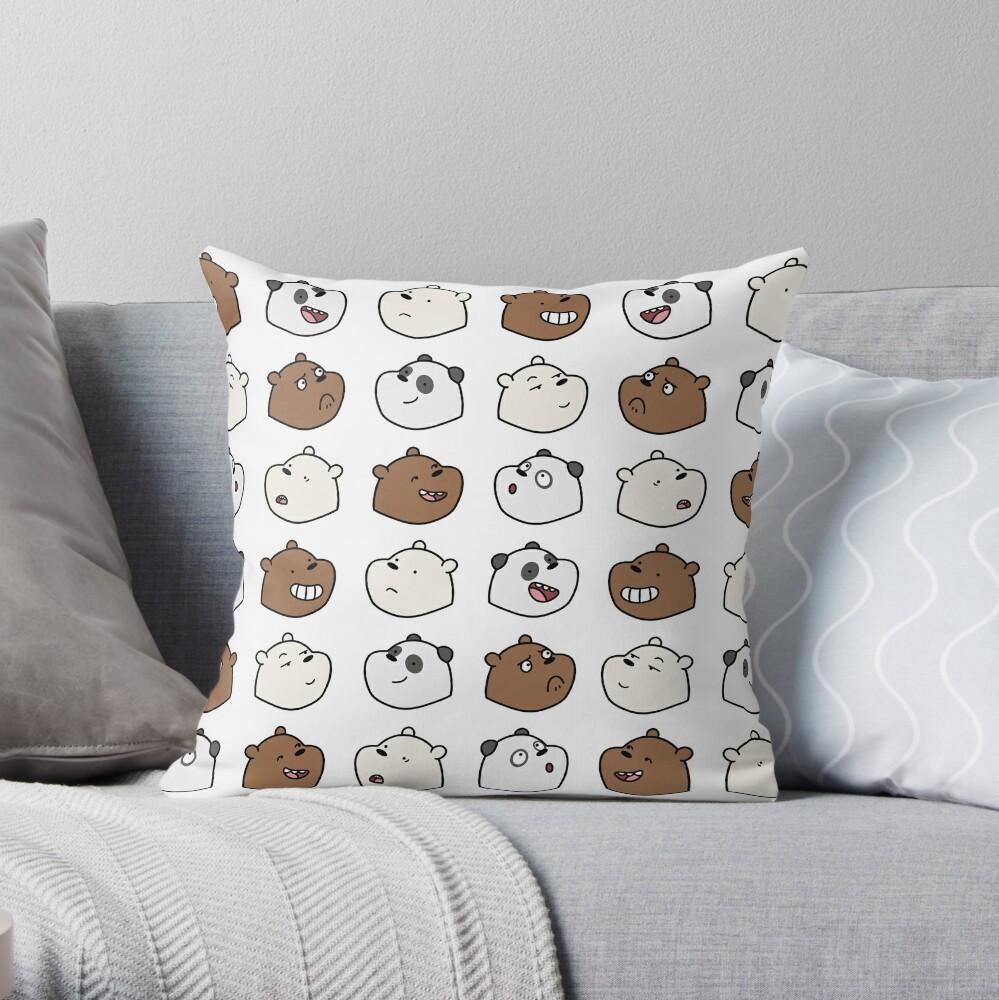 We Bare Bears Throw Pillow