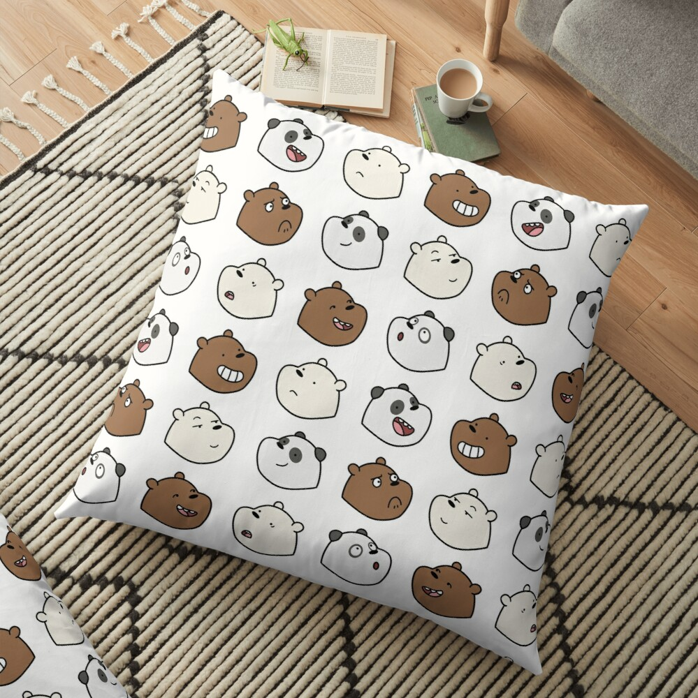 We Bare Bears Floor Pillow