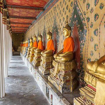 Bangkok Thailand Budhha by Artification