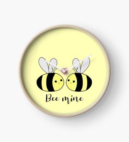 BEE Mine - BE mine - be my valentine - Valentines Pun - Anniversary Pun - Bee Puns - Love - Girlfriend - Boyfriend - Husband - Wife - Partner Clock