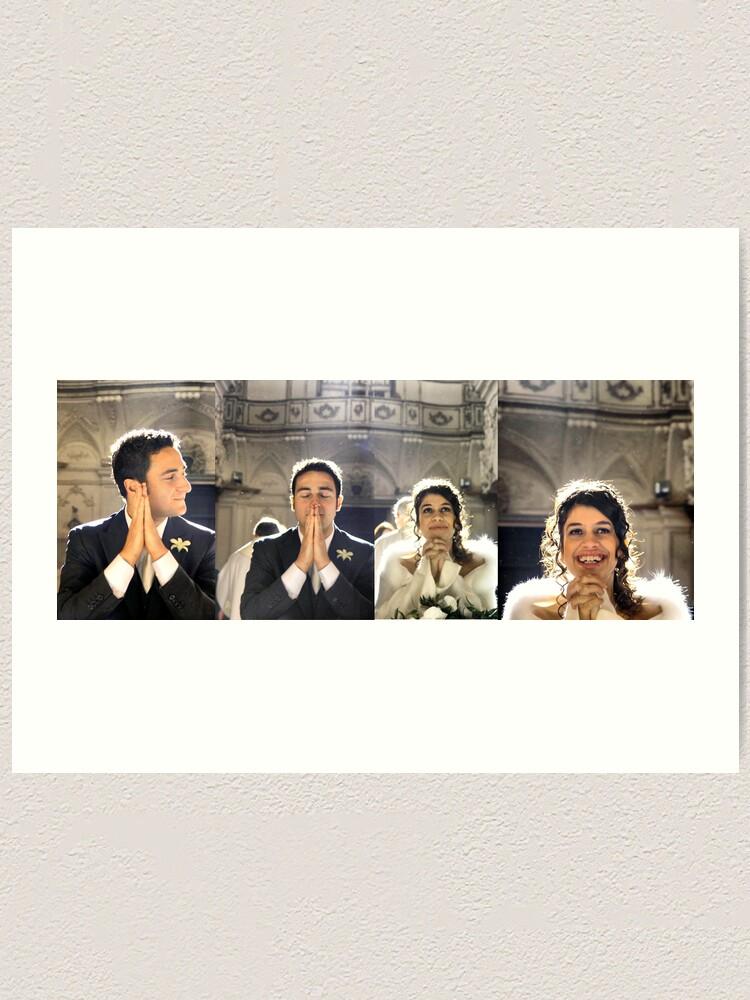 Alternate view of Just married Art Print
