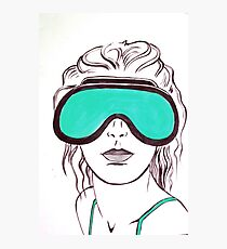 Goggles Photographic Print