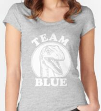 Team Blue Raptor Women's Fitted Scoop T-Shirt