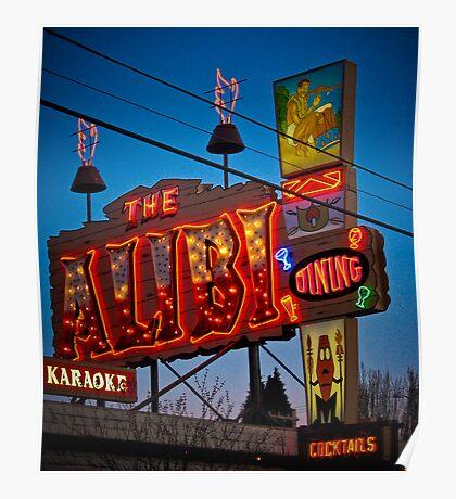 the alibi Poster