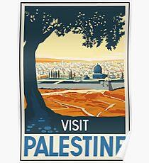 Visit Palestine Vintage Travel Poster Poster