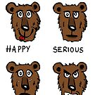 Funny bear expressions by Logan81