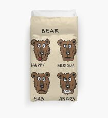 Funny bear expressions Duvet Cover