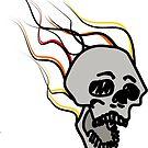 Burning skull by Logan81