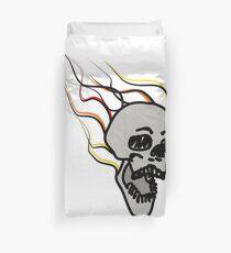 Burning skull Duvet Cover