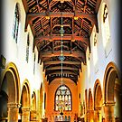 Bourne Abbey from Inside by Mick Smith
