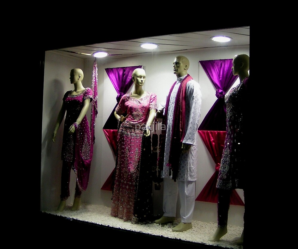 The shopwindow invites you to enter a paradise of colours by patjila