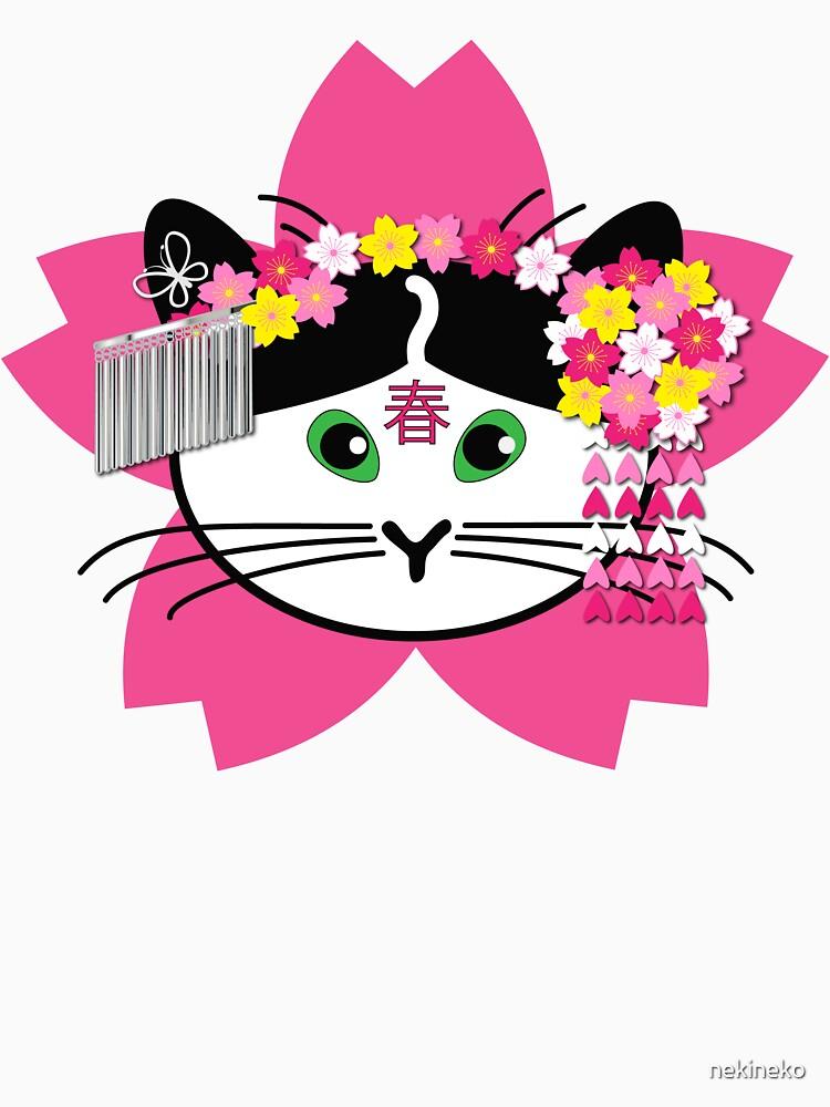 Cherry-blossom Cat by nekineko
